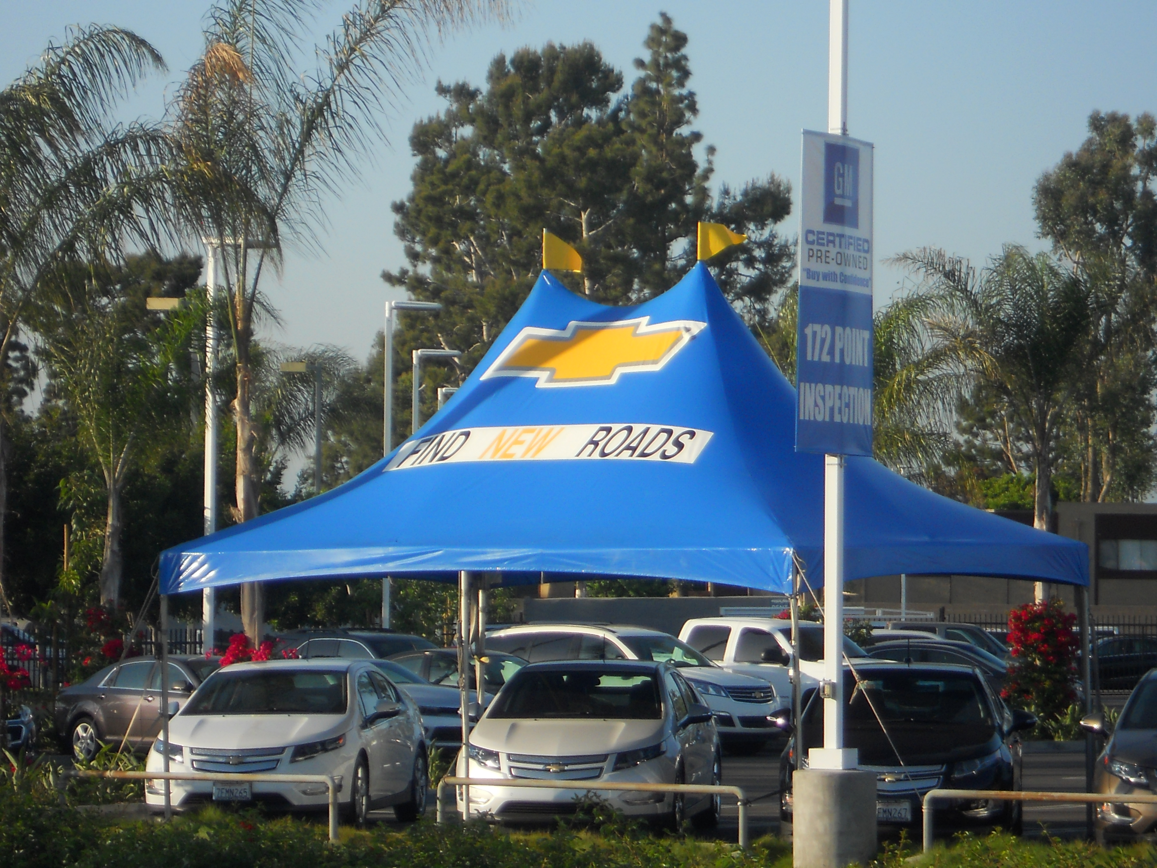 Chevy win Peak ... & DEALER TENTS